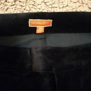 Modcloth Pants - ModCloth Blue Velvet Pants